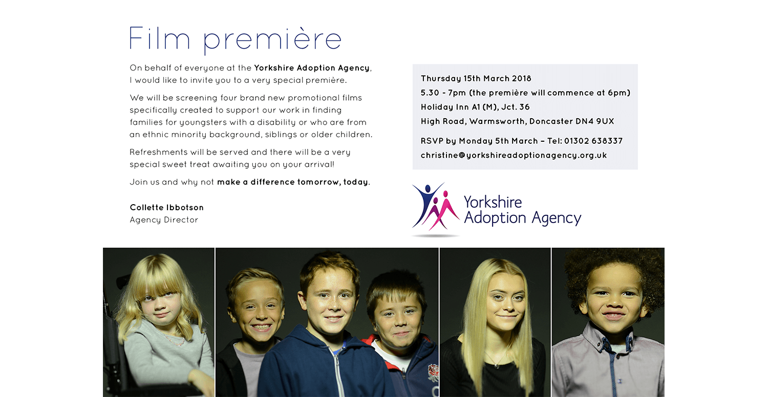 Yorkshire Adoption Agency | Institution Marketing and Advertising